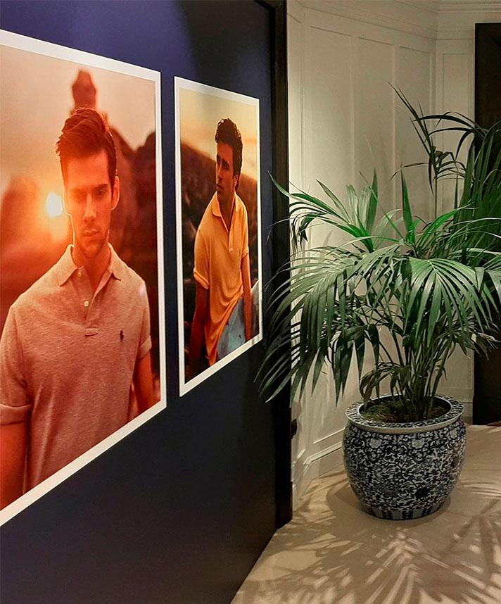 Impresión digital de gráficas en gran formato para la decoracion interior del showroom en Madrid de Ralph Lauren