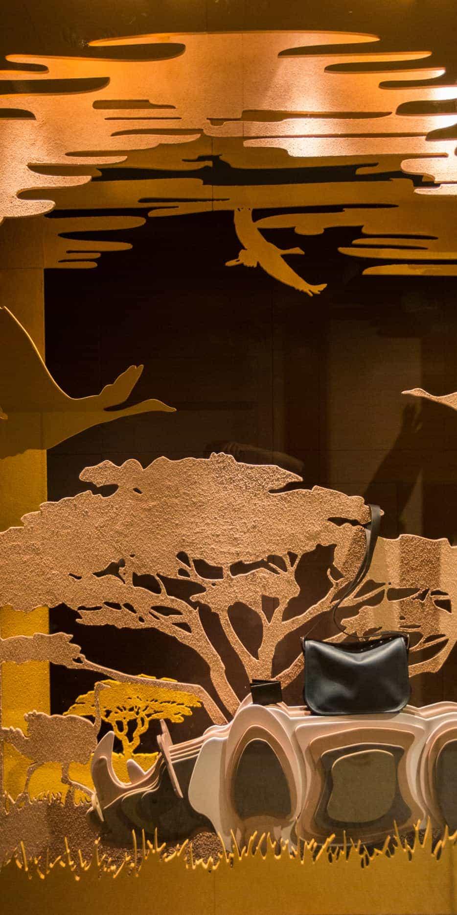 Traseras en madera decorada con arena