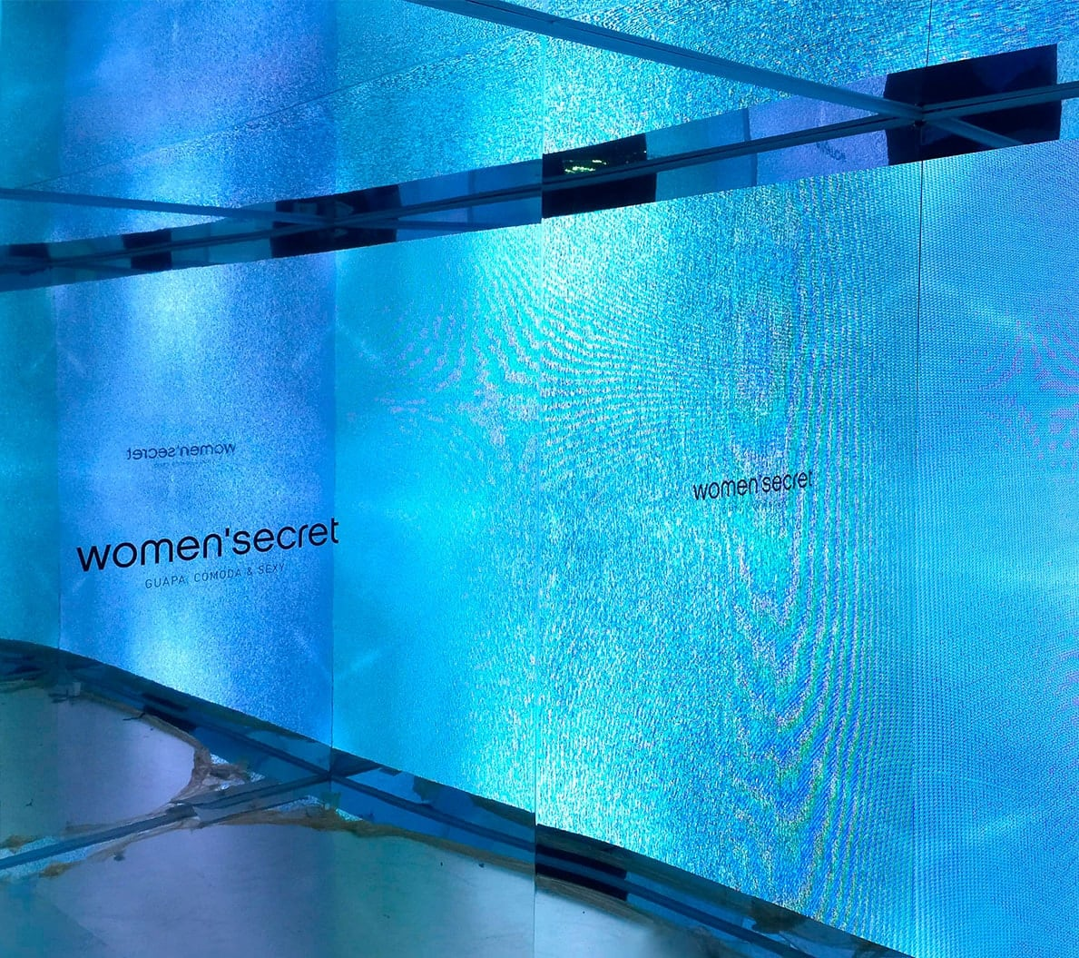 Pantalla con tecnología RFID para el evento de Women Secret