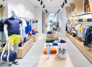 Fabricación e instalación 360 tienda North Sails Madrid