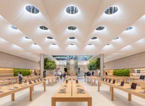 interior de tienda apple de NYork
