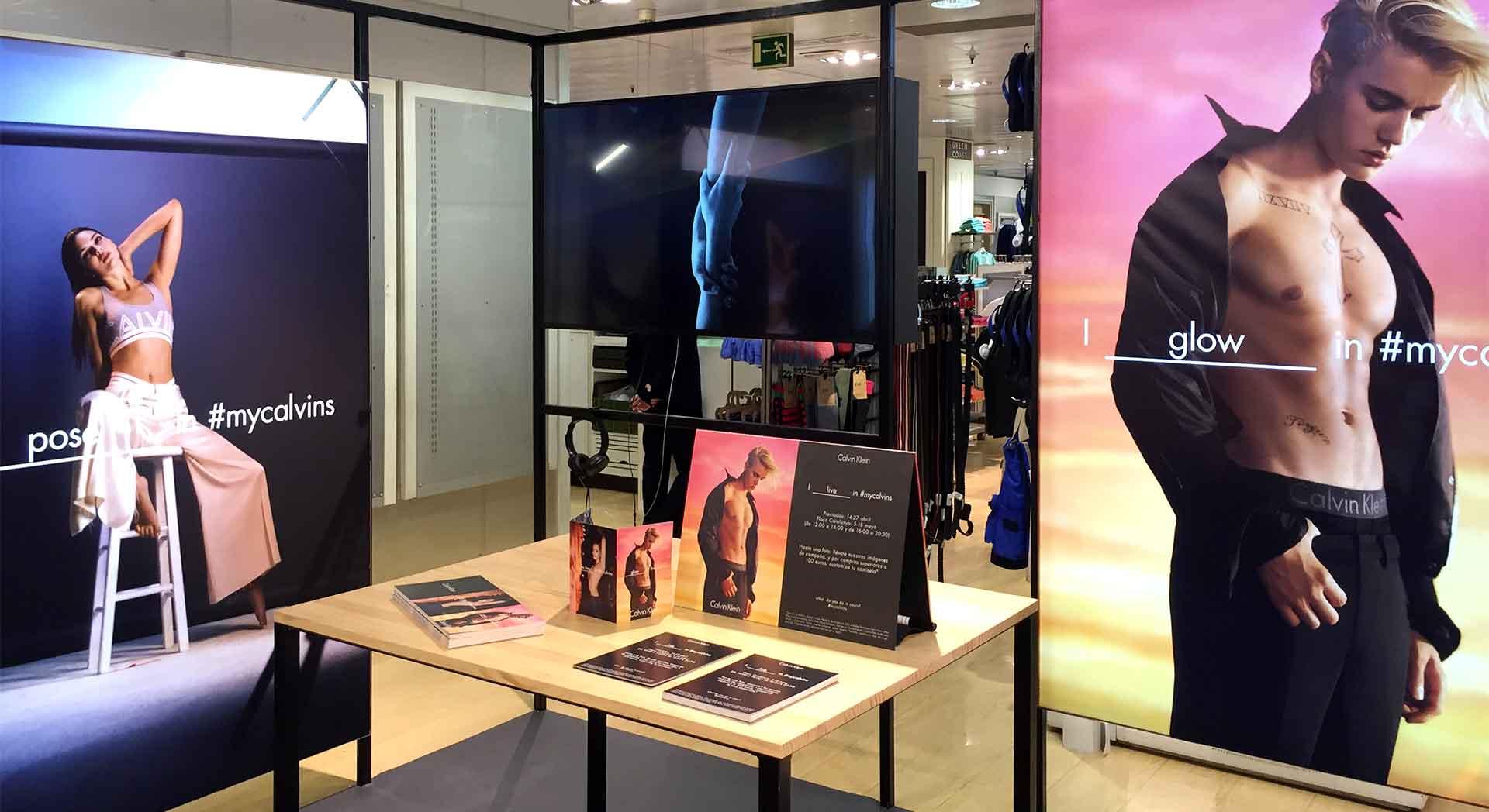 Proyecto Calvin Klein pop up produccion e instalacion