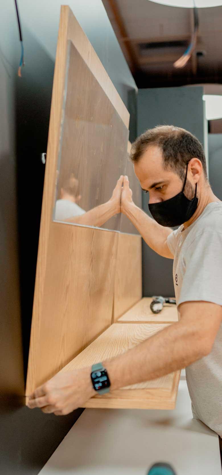 Instalación de mobiliario para ambientacion de espacios comerciales
