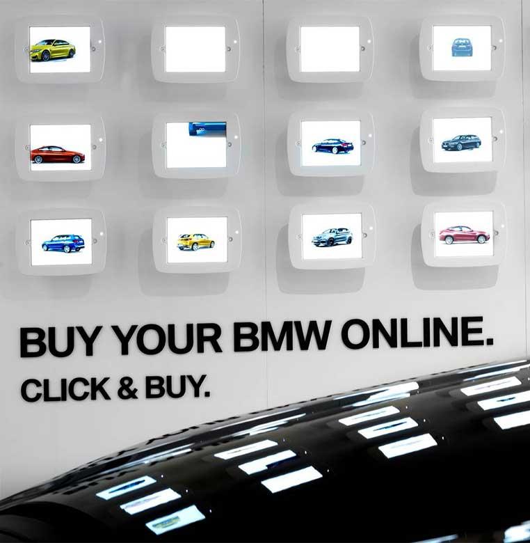 Ipads cargados con las especificaciones preconfiguradas de diferentes BMW