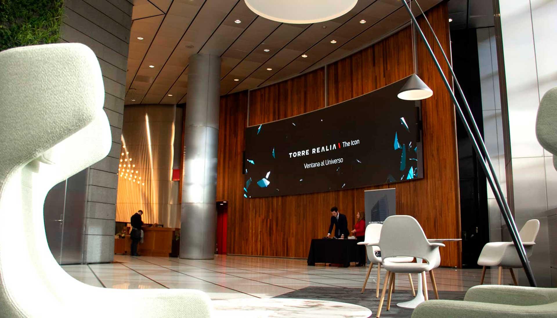 Digitalización con pantallas en edificios inteligentes