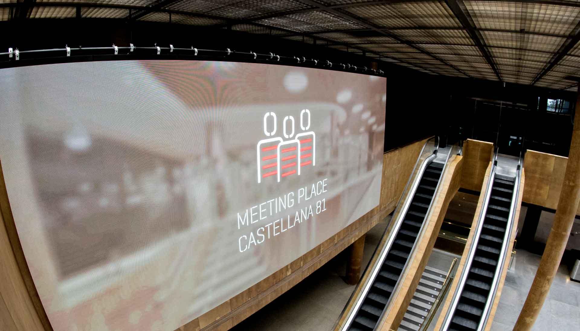 Digitalización con pantallas gran formato para Castellana 81
