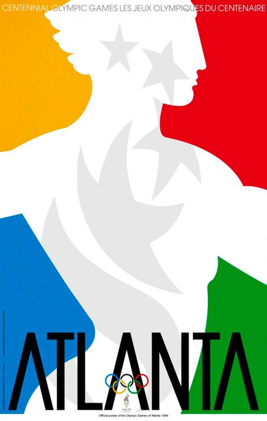 Cartel juegos olímpicos Atlanta