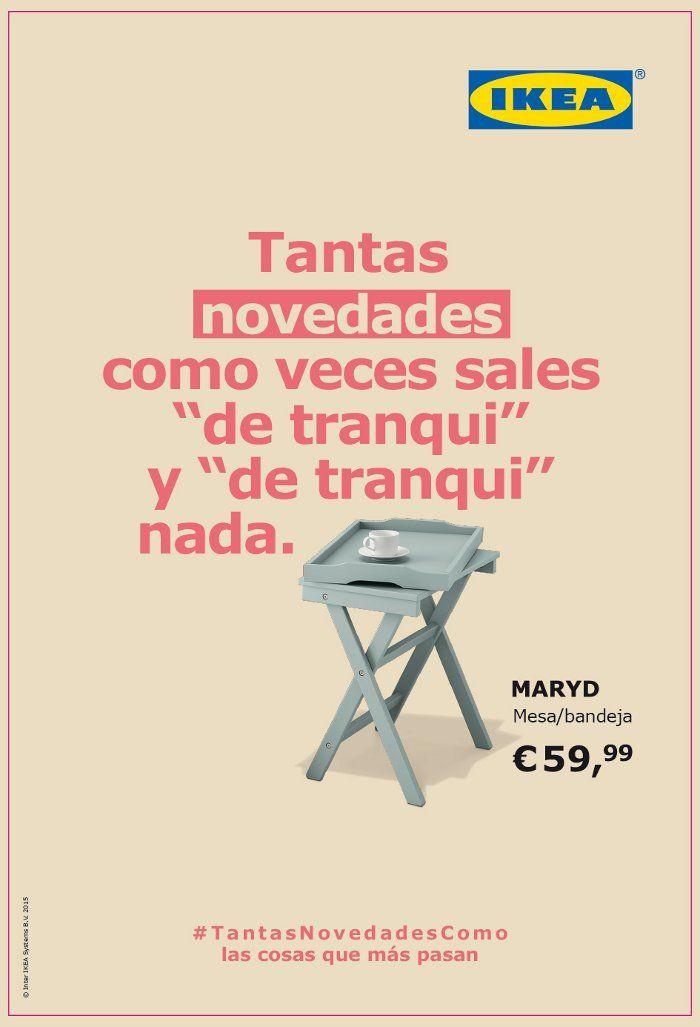 Cartel publicitario original campaña mesa Ikea