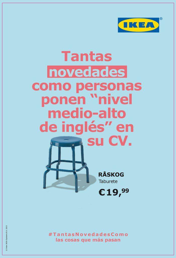Cartel publicitario original campaña taburete Ikea