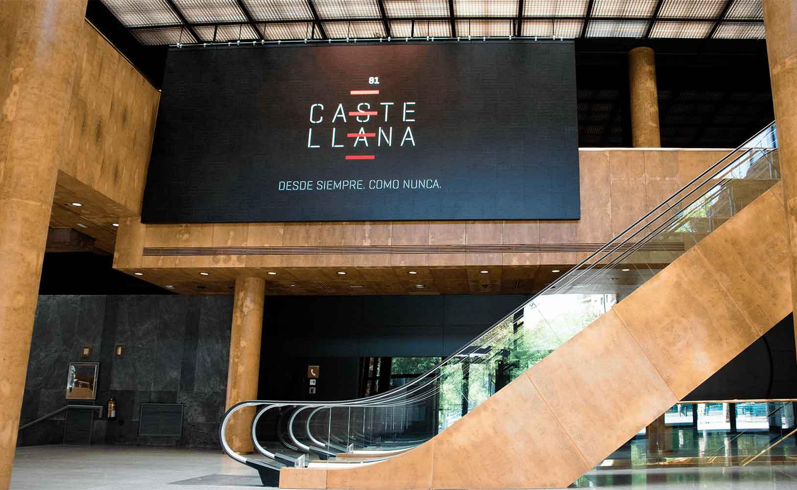 Cartelería digital gran formato edificio Castellana 81