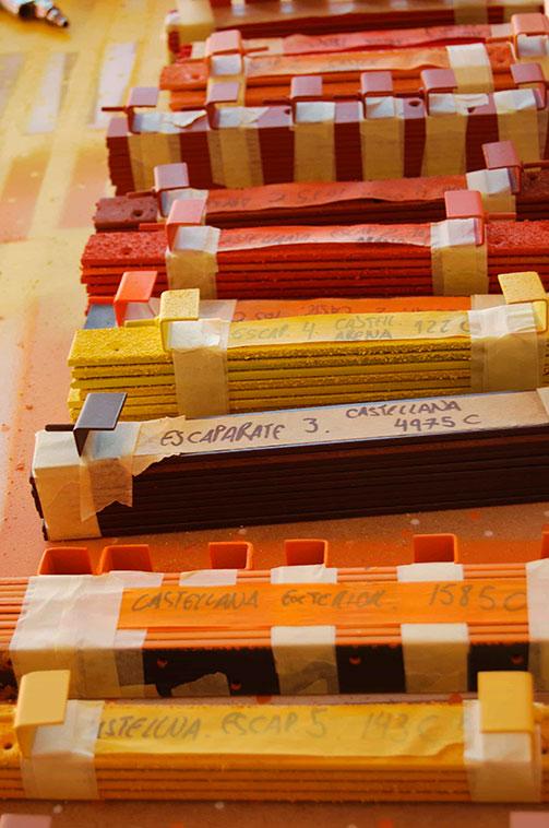 Elección de colores según briefing de Hermès