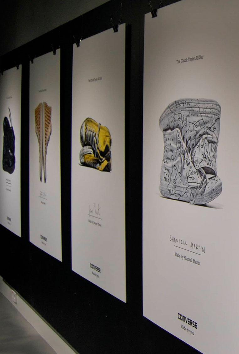 Producción organización eventos decoración impresión digital showroom evento Converse