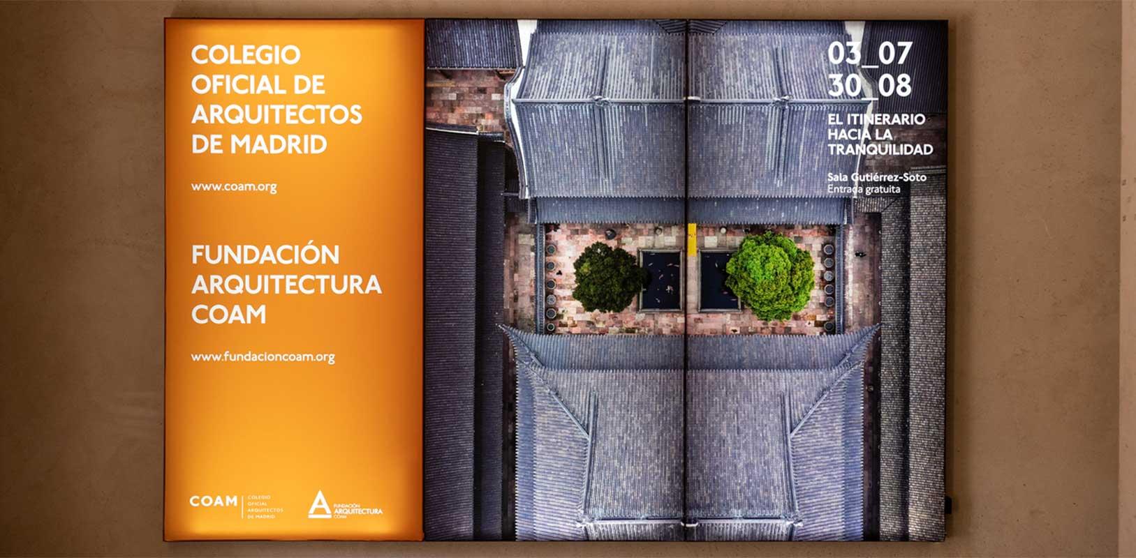 Producción gráfica, señalética y cartelería para edificio COAM Madrid