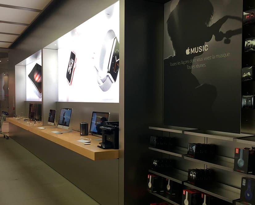 Garantía y postventa retail technology flagship store Apple