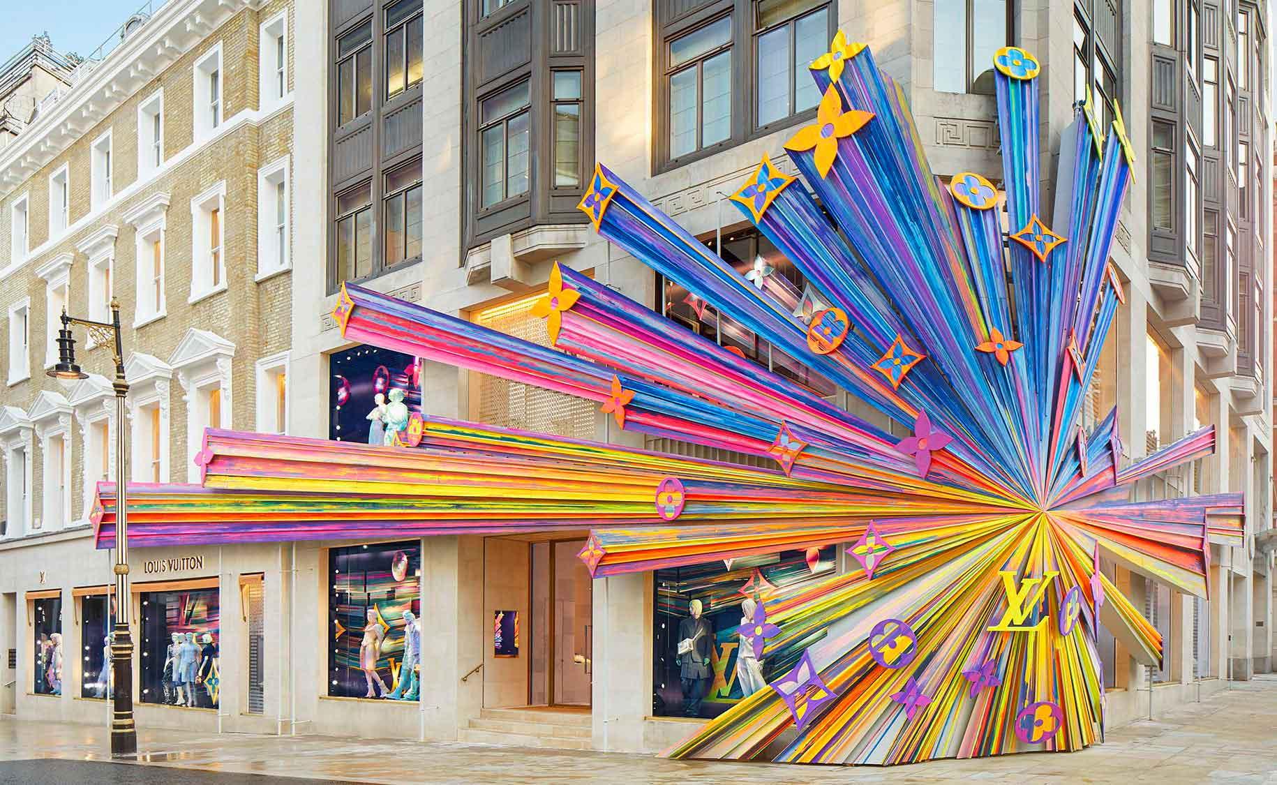 Fachada Louis Vuitton Bond Street Londres decoración de fachadas
