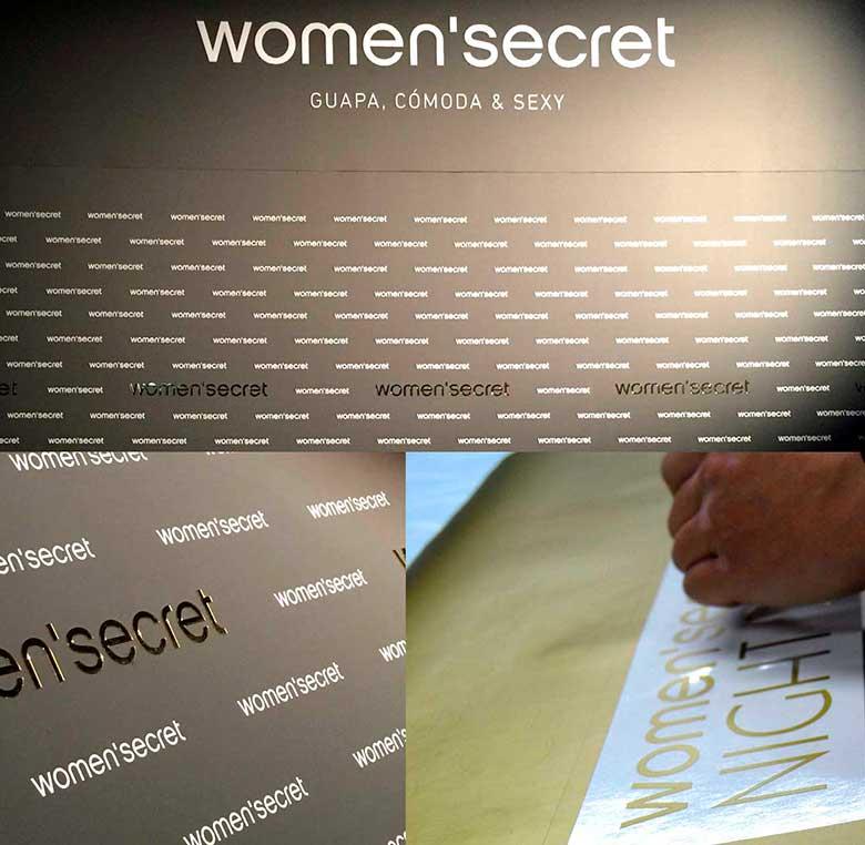 Women' Secret producción impresión digital photocall para evento en Madrid