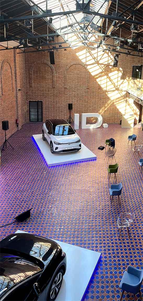 Elementos personalizados para evento Volkswagen ID4