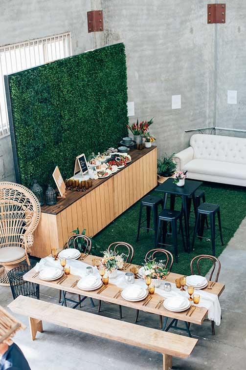 Evento hire open day empresa Hampton mobiliario madera maciza