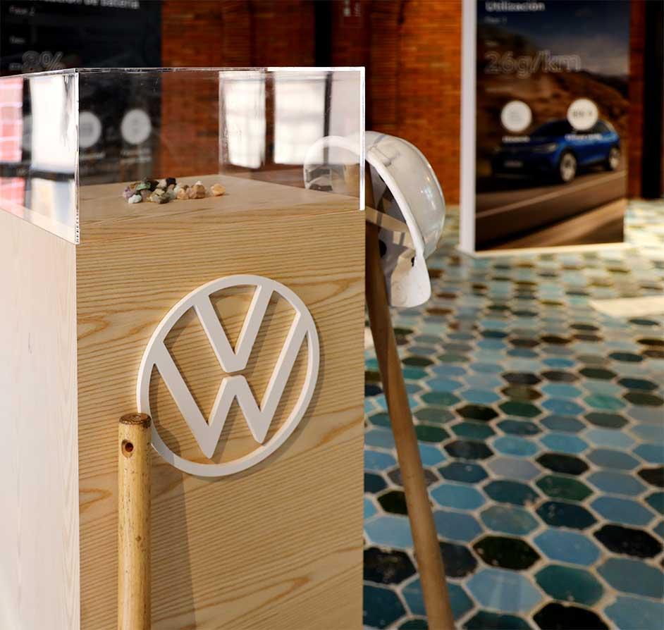 Producción elementos decorativos personalizados evento Volkswagen ID4