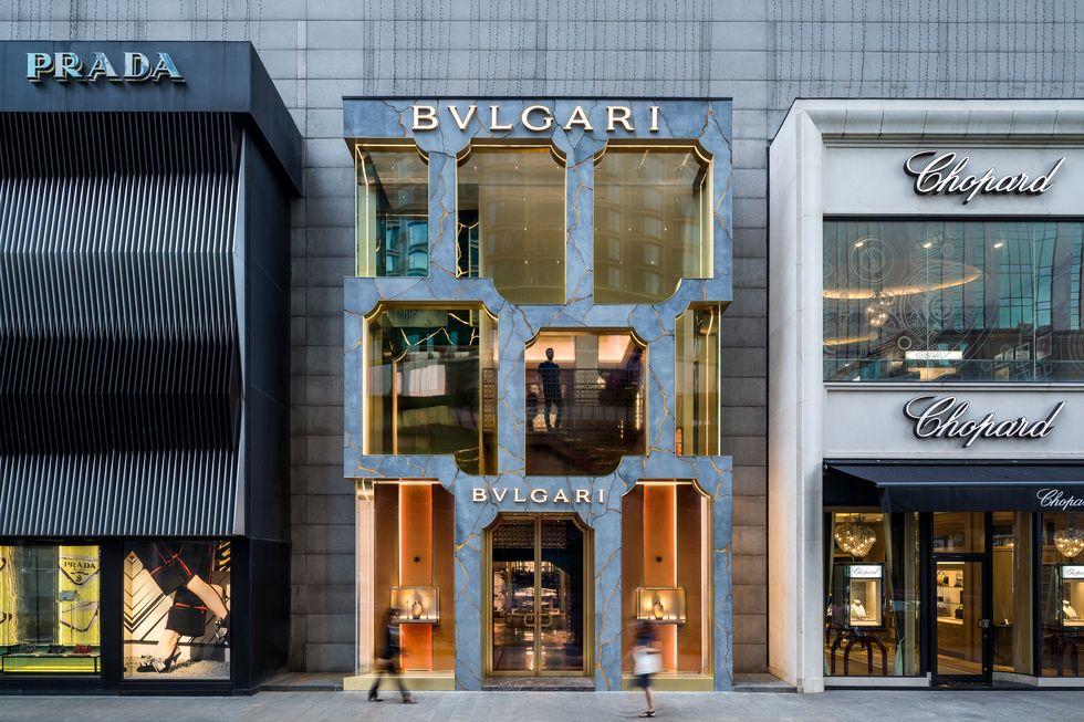 Escaparate de tienda Bulgari en Kuala Lumpur