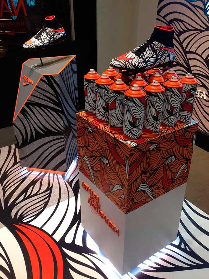 Visual merchandising en tiensaadas Nike