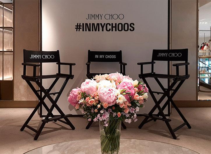 Comunicación gráfica para evento Jimmy Choo