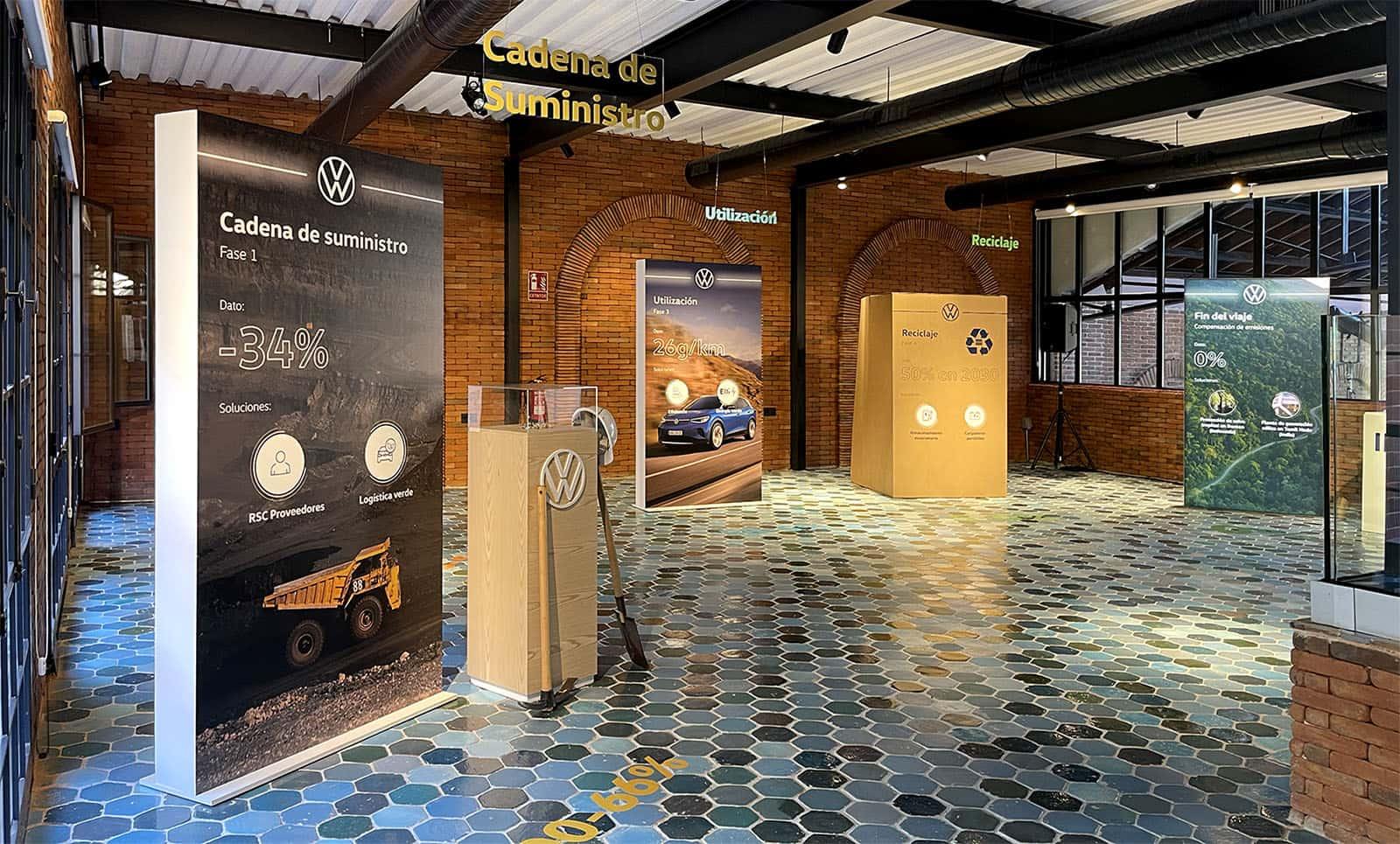Decoración cajas de luz evento lanzamiento Volkswagen ID4