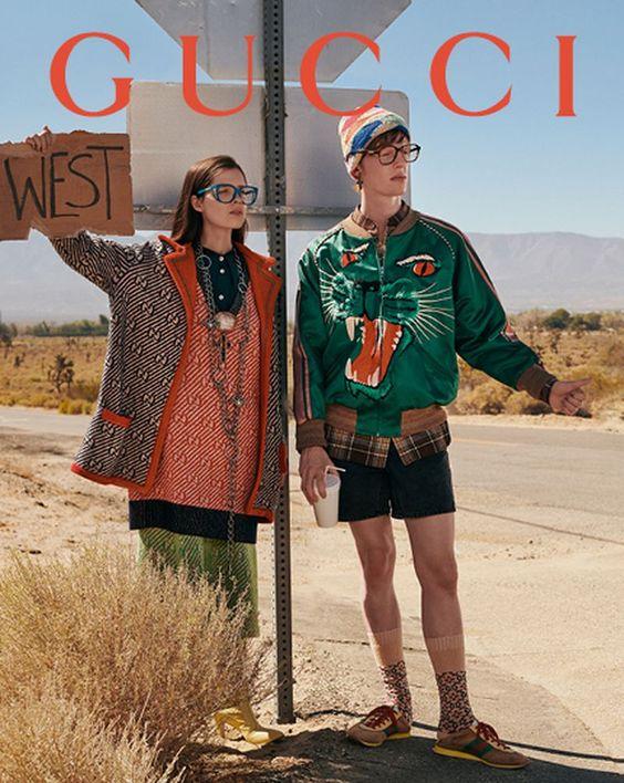 Cartelería imagen de marca Gucci