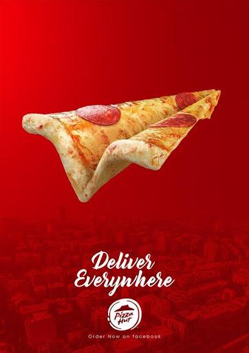 Impresión gráfica para publicidad Pizza Hut