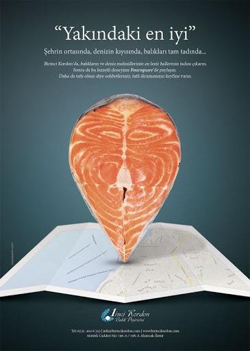 Impresión gráfica impactante salmón noruego