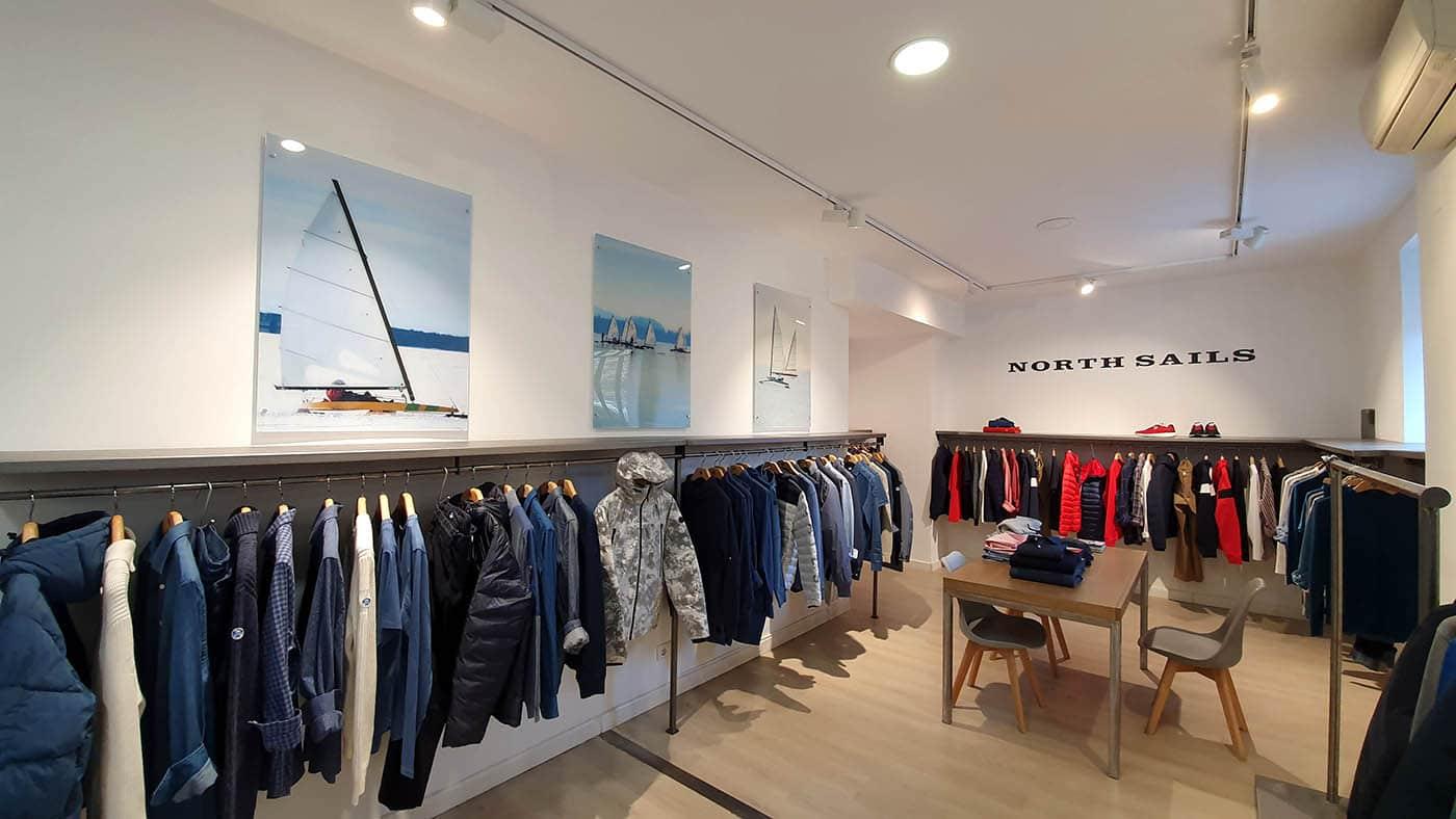instore-clientes-north-sails-decoracion-showroom-cuadros-impresion-en-pvc