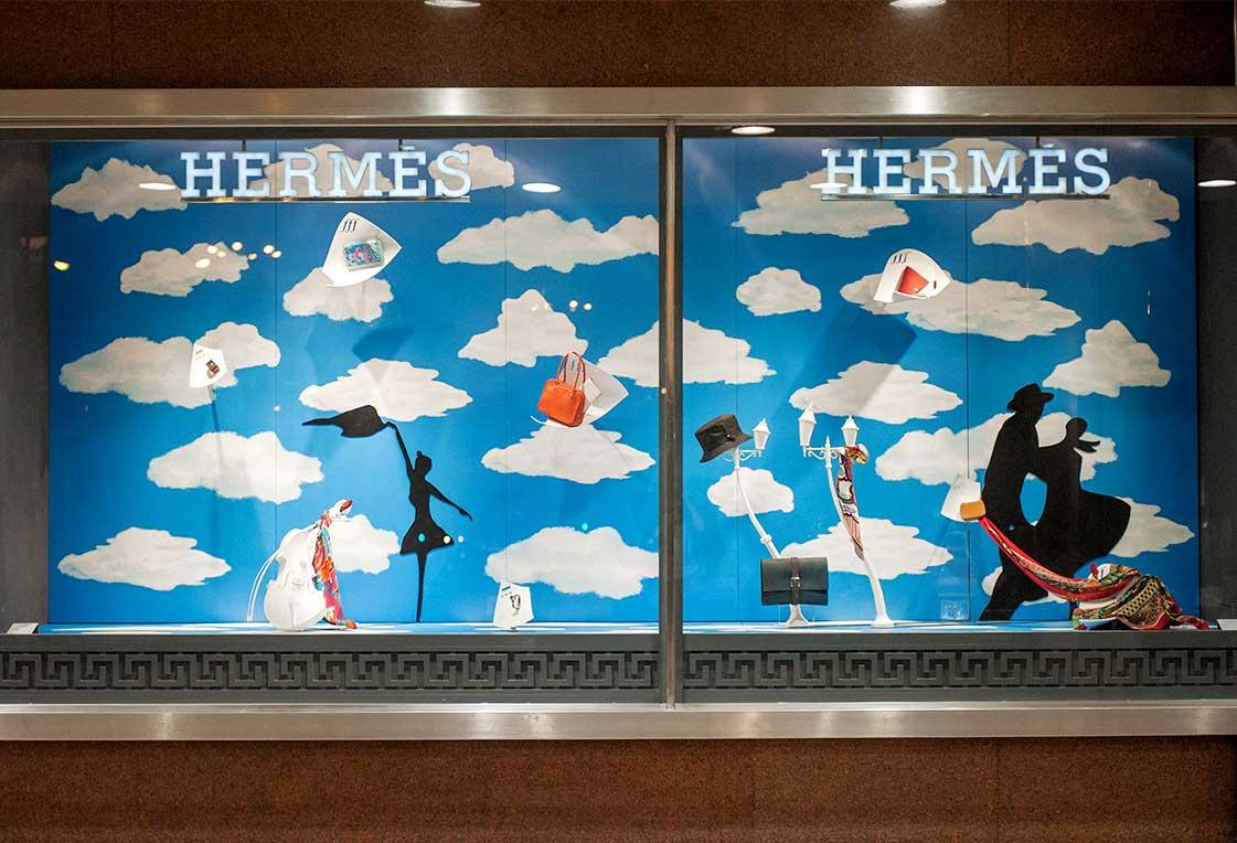 instore-clientes-hermes-impresion-digital-textil-para-decoracion-de-escaparates-